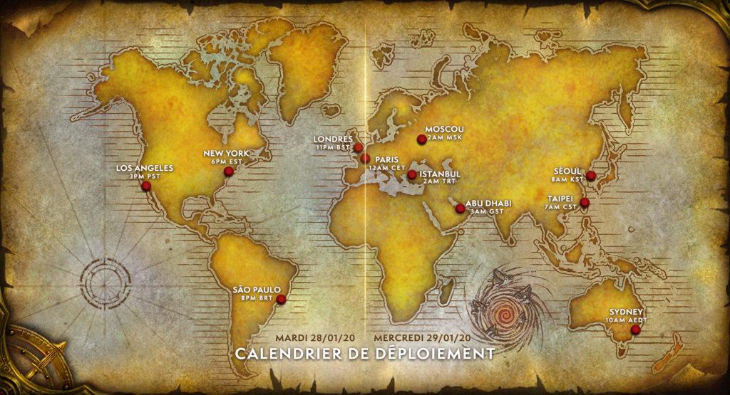 Warcraft III: Reforged déploiement